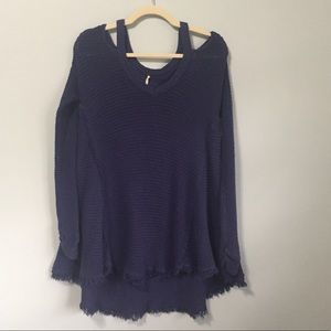 Free People Moonshine Distressed Sweater | Size S